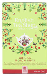 ENGLISH TEA SHOP Herbata biała Tropical Fruits (20x2g) - BIO