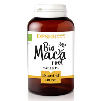 DIET FOOD Maca ekstrakt 4:1 tabletki 500mg (120g) - BIO