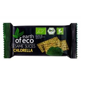 EARTH OF ECO Sezamki z chlorellą bezglutenowe (18g) - BIO