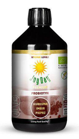 JOY DAY Probiotyk kurkuma imbir pieprz 500ml - BIO
