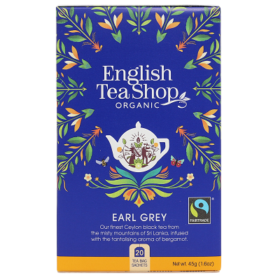 ENGLISH TEA SHOP Herbata Earl Grey (20x2,25g) - BIO FAIR TRADE