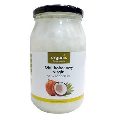 ORGANIC Olej kokosowy virgin (900ml) - BIO