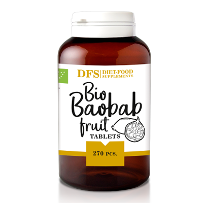 DIET FOOD Baobab tabletki 500mg (135g) - BIO