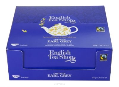 ENGLISH TEA SHOP Herbata Earl Grey (100x2g) - BIO FAIR TRADE