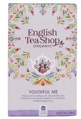 ENGLISH TEA SHOP Herbatka ziołowa Youthful Me (20x1,5g) - BIO
