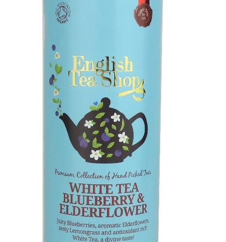 ENGLISH TEA SHOP Herbata biała z dzikim bzem i jagodami (15x2g) - BIO