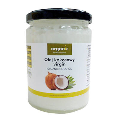 ORGANIC Olej kokosowy virgin (500ml) - BIO