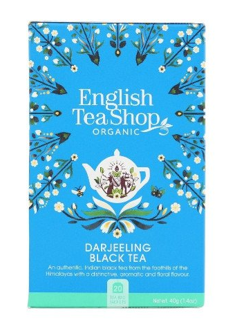 ENGLISH TEA SHOP Herbata czarna Darjeeling (20x2g) - BIO